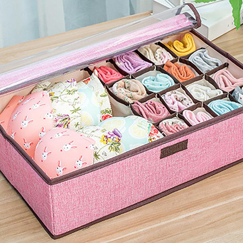 Large Capacity Storage Box Basket Clothes Bras Storage Bag