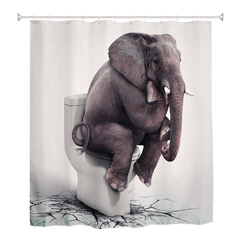 180 X 180cm Elegant Thinkers Digital Printed Shower Curtain