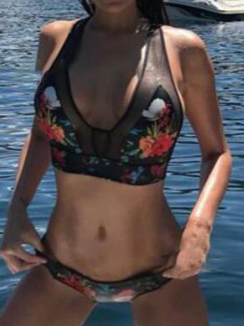 Floral Print Two-pieces Bikinis