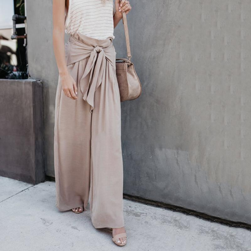 Loose Casual Solid Plain Pants