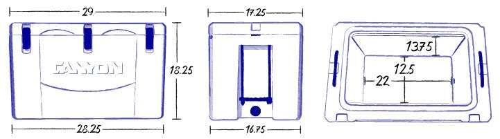 cooler dimensions drawing