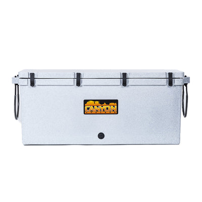 200 quart cooler front view