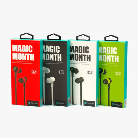 Audifonos Sport Celebrat D2 Magic Month Stereo Earphone
