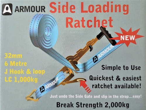 Armour Side Loading Ratchet J Hook & loop