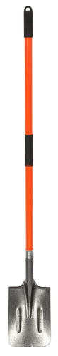 WASP LONG HANDLE POST HOLE SHOVEL - TEMPERED STEEL - HICKORY HANDLE