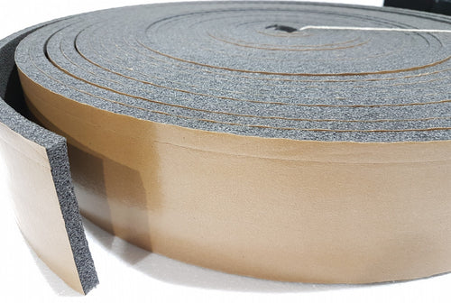 75mm Flexi Expansion Foam Joint Filler Rolls with Adhesive (STICKY) 10mm x 25m with Zip 75mm
