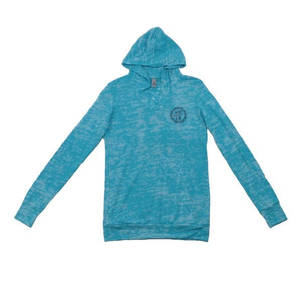 Beaches Logo Women's Burnout Hooded Pullover - Nauset Surf Shop