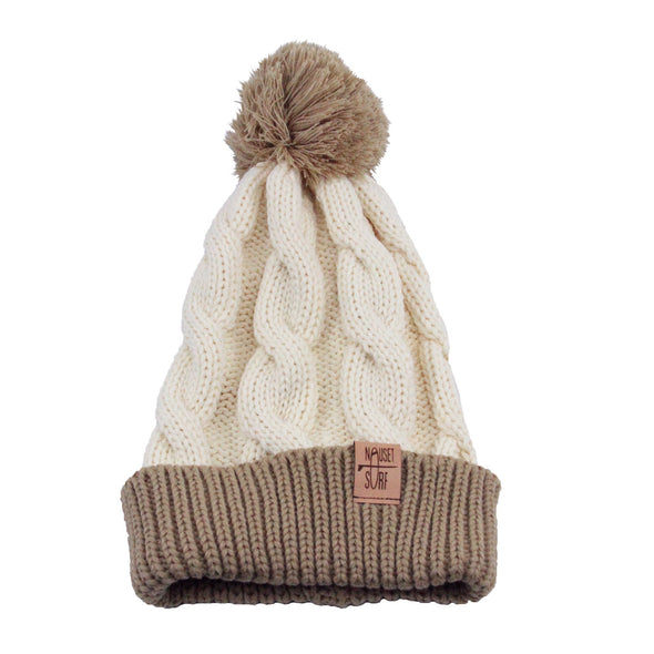 Beanie- Chunk Twist Knit w/ Cuff - Nauset Surf Shop
