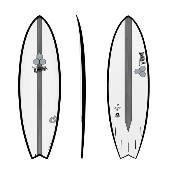 CHANNEL ISLAND 6'2 POD MOD WHITE- BLACK RAILS - Nauset Surf Shop