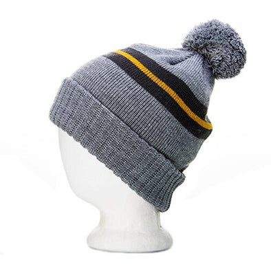 Classic Logo Circle Patch Jacquard Knit Beanie w/ Pom - Nauset Surf Shop