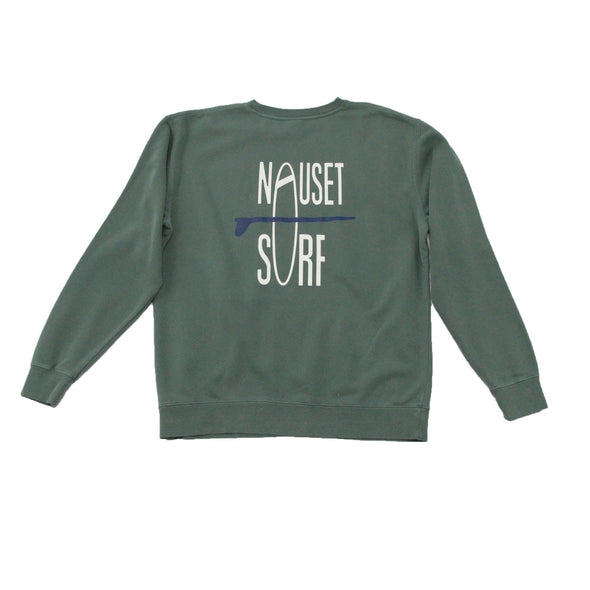 Classic Logo Garment Dyed Crew Neck Sweatshirt - Nauset Surf Shop