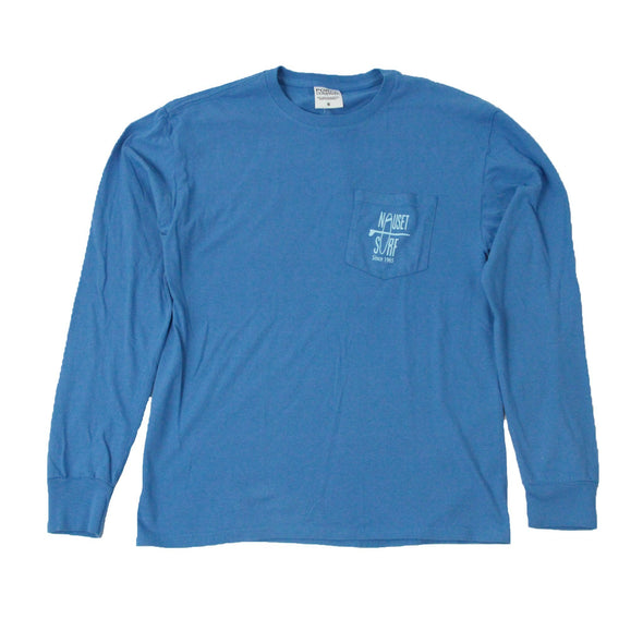 Classic Logo Garment Dyed Long Sleeve Pocket Tee - Nauset Surf Shop