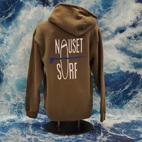 Classic Logo Heavyweight Hooded Sweatshirt - Blue Logo - Nauset Surf Shop