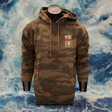Classic Logo Heavyweight Hooded Sweatshirt - Camo/Red Logo - Nauset Surf Shop
