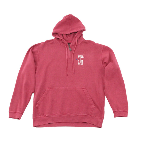 Classic Logo Mini Zip Garment Dyed Hooded Sweatshirt - Nauset Surf Shop