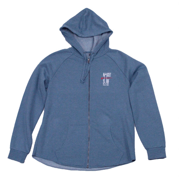 Classic Logo Women's Full-Zip Hooded Sweatshirt - Nauset Surf Shop