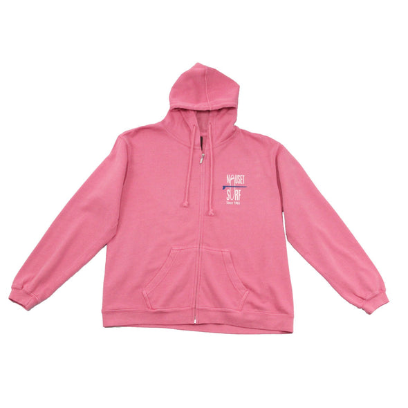 Classic Logo Womens Pigment Dyed Full Zip Hooded Sweatshirt - Nauset Surf Shop