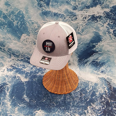 NS ROUND HAT 112 HGRAY/WHT- YOUTH - Nauset Surf Shop