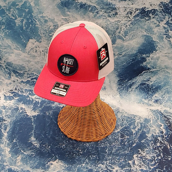NS ROUND HAT 115 RED HTH/L.GREY MD-LG - Nauset Surf Shop