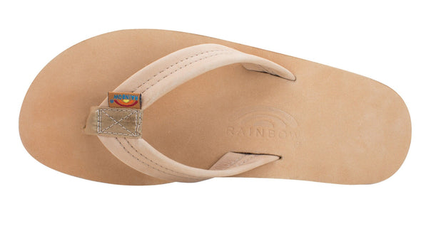 RAINBOW Men's Single Layer Premier Leather with Arch Support- Sierra Brown - Nauset Surf Shop
