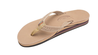 "RAINBOW Women's The Willow – Double Layer Premier Leather Braided 3/4"" Medium Strap- Sierra Brown - Nauset Surf Shop"