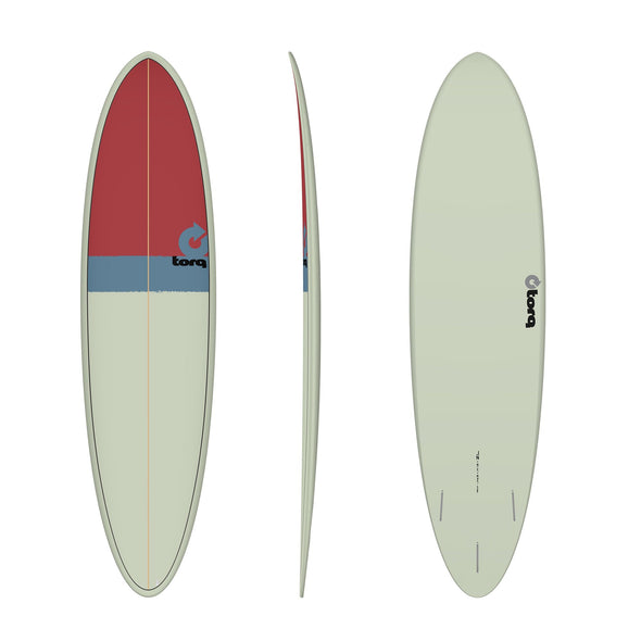 TORQ 7'2 FUN SAND/GREY/RED - Nauset Surf Shop