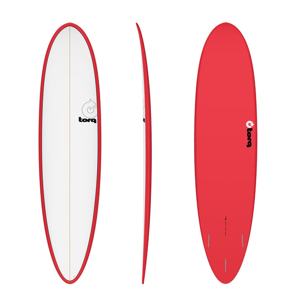 TORQ 7'6 FUN PINLINE RED/WHT DECK - Nauset Surf Shop