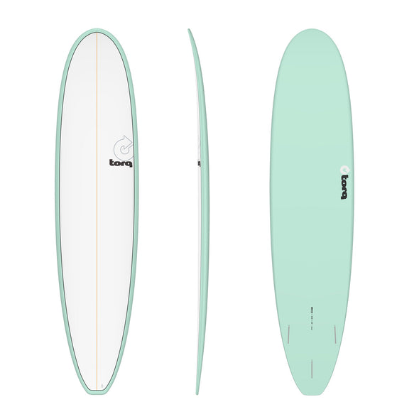 TORQ 8'0 LONG PINLINE SEAGREEN/WHT DECK - Nauset Surf Shop