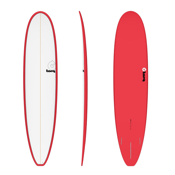 TORQ 8'6 LONG PINLINE RED/WHT DECK - Nauset Surf Shop