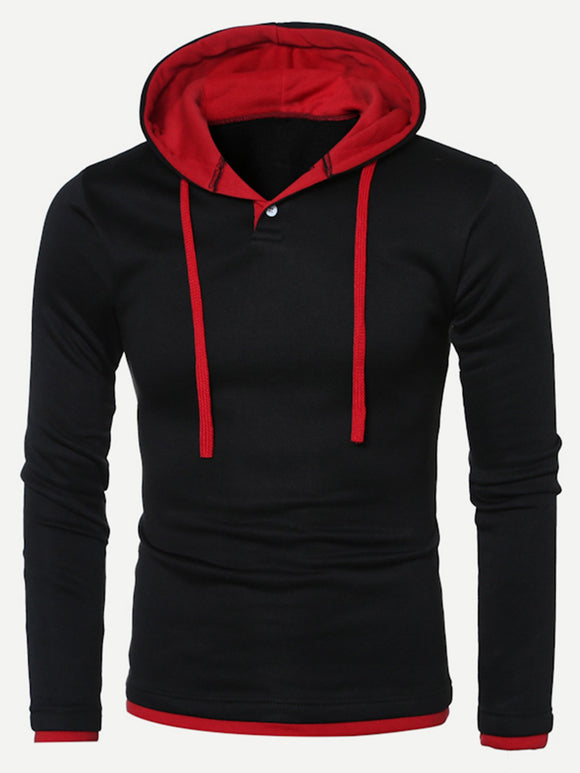 Men Color Block Hooded Sweatshirt-Sunshine's Boutique & Gifts
