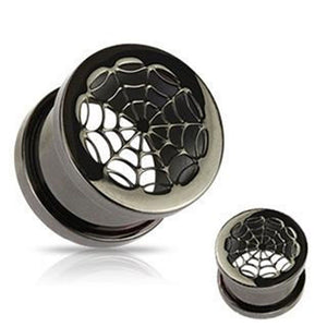 1 Pair of spider stainless steel plugs-Sunshine's Boutique & Gifts