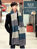 Multicolor Patchwork Vintage Men Knitted Scarf