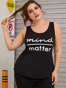 Plus Letter Graphic Tank Top