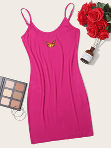 Butterfly Graphic Bodycon Mini Dress