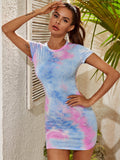 Tie Dye Form Fitted Dress