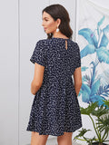 Maternity Heart Print Smock Dress