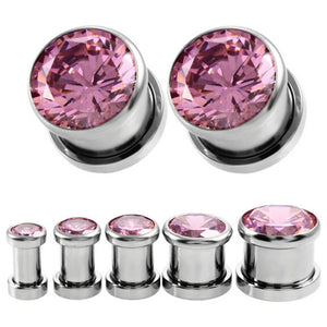 1Pair Vintage CZ Crystal Ear Plug-Sunshine's Boutique & Gifts