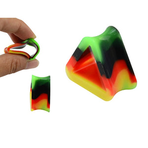 2 Pcs Unique Design Colorfull Triangle Soft Silicon Ear Tunnels-Sunshine's Boutique & Gifts