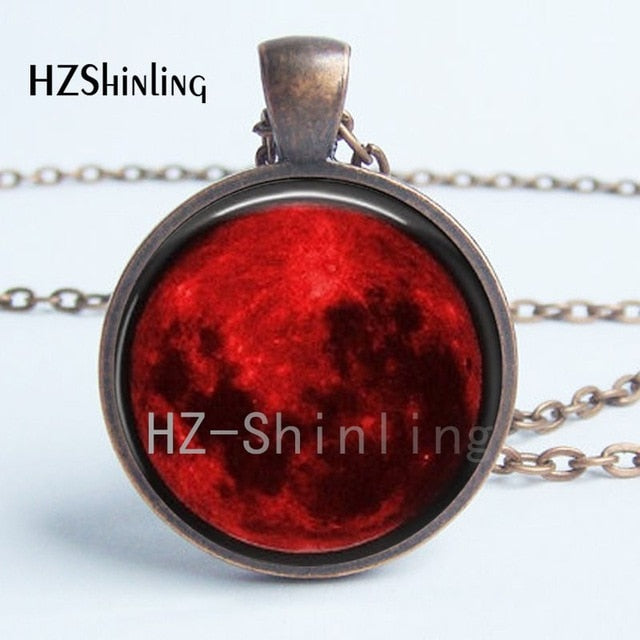 Blood Moon Pendant Necklace-Sunshine's Boutique & Gifts