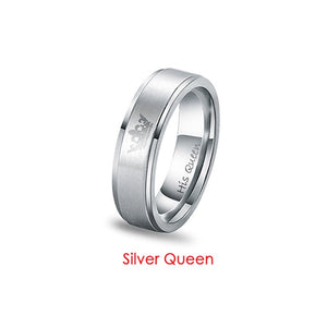 2018 Her King His Queen Crown Titanium Ring-Sunshine's Boutique & Gifts