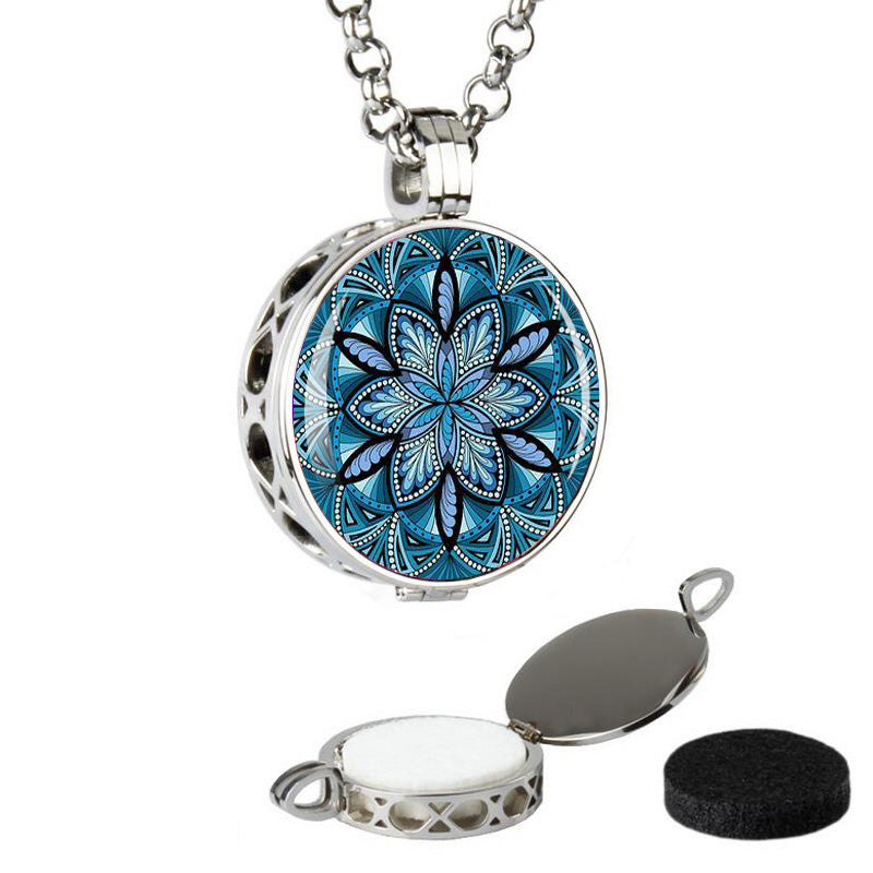 Stainless steel aromatherapy lockets-Sunshine's Boutique & Gifts