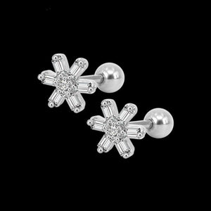16 gauge Stainless Steel Zircon Tragus Helix Cartilage Piercing-Sunshine's Boutique & Gifts