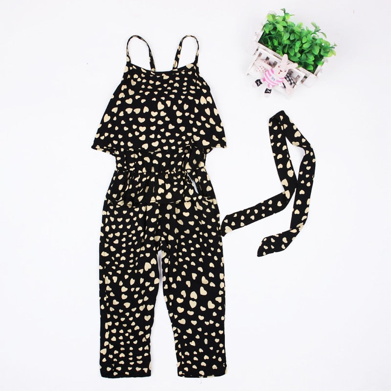 Girls Harness heart Jumpsuit-Sunshine's Boutique & Gifts