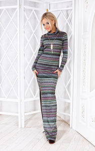 Long Maxi Boho bodycon dress-Sunshine's Boutique & Gifts