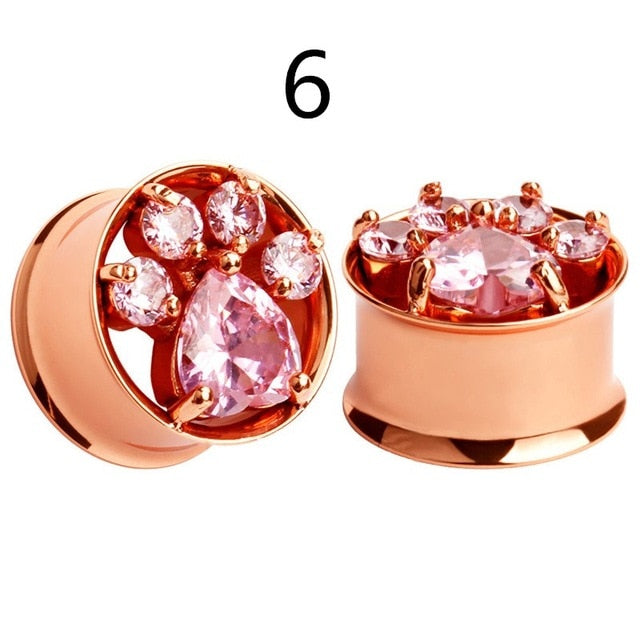 rose gold stainless steel ear plugs-Sunshine's Boutique & Gifts