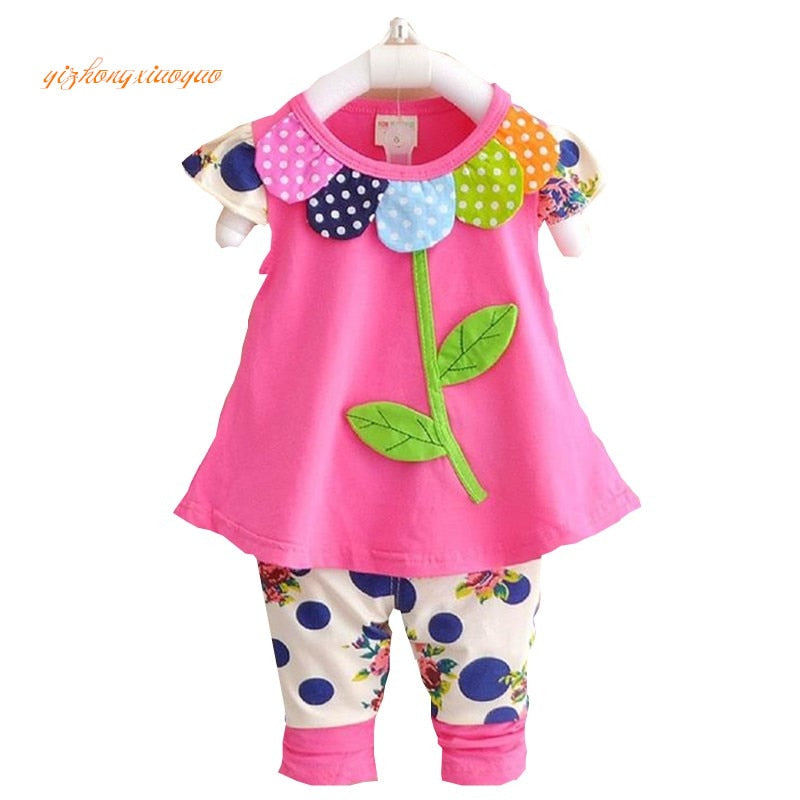 Baby Girl Floral T-shirts Tops and Leggings-Sunshine's Boutique & Gifts