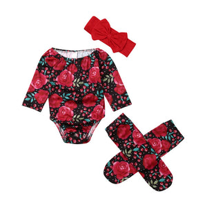Baby Girl Flower Bodysuit Sets