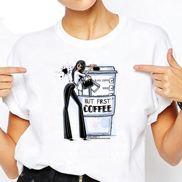 Women Coffee T Shirt-Sunshine's Boutique & Gifts