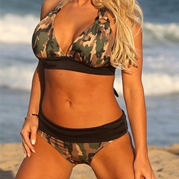 Camouflage Print Bikini Set-Sunshine's Boutique & Gifts