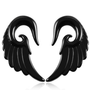 2PCS Acrylic Ear Plugs and Tunnels Angel Wing Design-Sunshine's Boutique & Gifts